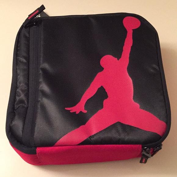 b9a9effe2c9381 Michael Jordan Insulated Lunch Box Red   Black NWT